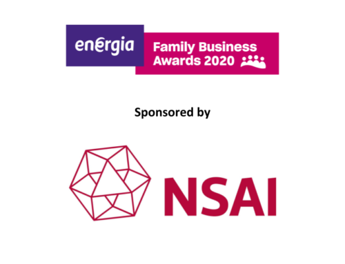 Welcoming NSAI (National Standards Authority of Ireland) sponsoring our Innovative Family Business Award